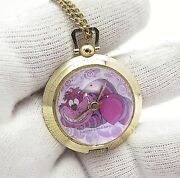 Alice In Wonderland Cheshire Cat 60and039s Mw Necklaces Ladyand039s/kidand039s Watch 1128