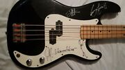 Harmony Bass Guitar Signed By The Blue October Band