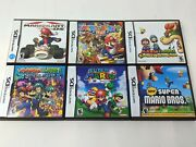 Mario Ds Collection Lot 6 Cases And Manuals Only No Games
