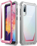 For Galaxy A50 Rugged Clear Case Full-body Hybrid Shockproof Bumper Cover
