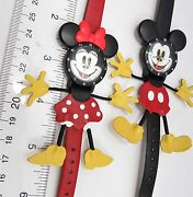 Mickey And Minnie Mouse,3d Hands And Feet,rare Set Kids/ Ladies Watch,r4-04,l@@k