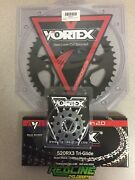Vortex 520 Sprocket Kit Black Chain Front And Rear For 2007-2008 Yamaha R1
