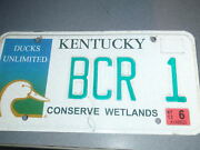 Kentucky Ducks Unlimited 2013 License Plate Bcr 1 Custom Low Number