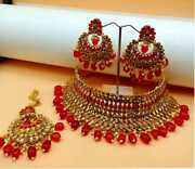 Ethnic Indian Jewelry Gold Plated Fashion Bollywood Bridal Necklace Set