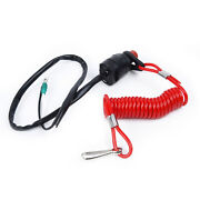 Boat Kill Switch 160cm Nylon Racing Safety Lanyard Clip Outboard Motor Accessory