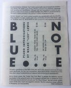 1940's Blue Note Jazz Records Brochure Meade Lux Lewis