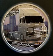 Rare Tuvalu 2010 1 Kings Of The Road Gigamax Perth Mint Silver Proof Coin