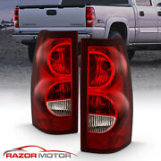 03-06 Chevy Silverado Red Replacement Tail Light Brake Lamp Pair Bulb + Wiring