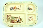 Classic Winnie The Pooh Divided Plate Vintage Tray Melamine Unbreakable Selandia