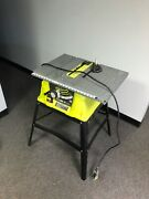 Ryobi¹15 Amp 10 In. Table Saw With Steel Stand Rts10g Reconditioned