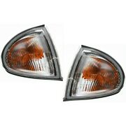 Pair Turn Signal Lights Lamps Set Of 2 Left-and-right For Civic Lh And Rh Del Sol