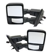 Mirrors Set Of 2 Left-and-right Heated For F150 Truck Fo1321479 Fo1320479 Pair