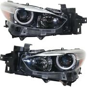 Headlight Lamp Left-and-right Lh And Rh For Mazda 3 Sport 2017-2018
