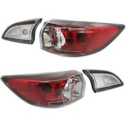 Tail Light For 2010-2013 Mazda 3 Hatchback Left And Right Inner And Outer