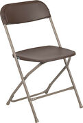 100 Pack 300 Lbs Capacity Commercial Quality Brown Plastic Folding Chairs
