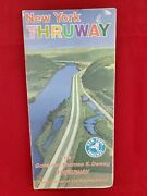 Vintage New York Thruway Map And Info C.1965 Posting A