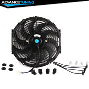 Universal 12 In Pull / Push Electric Radiator Engine Cooling Fan W/ Mount Kit