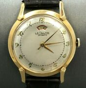 Vintage Lecoultre Automatic Power Reserve 14 K Solid Gold Watch Runnning