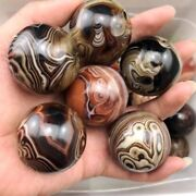2.2lb1kg Beautiful Patterns Madagascar Banded Agate Ball Crystal Sphere