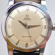 Omega Seamaster 2767-1 Two Tone Dial Automatic Vintage Watch 1953and039s Overhauled