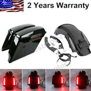 5 Stretched Extended Saddlebags And Cvo Rear Fender For Harley Touring 2009-2013