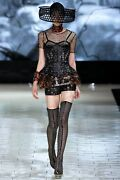 Alexander Mcqueen Runway Honeycomb Patent Leather Laser Cut Corset And Shorts