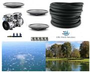 Large Pond Aerator System W/100' Wtd Hose 3 Diffusers +valve+ New Pump 1+acres