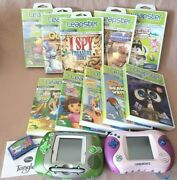 Leapfrog Leapster And Leapster 2 Lot W/11 Games Disney Nick Jr. Case/cart/manual