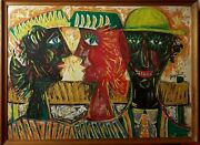 Old French Painting Jean-claude Guignebert 1946 Characters
