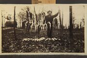 Real Photo Postcard, Frontiersman Huge Catch Of Fish, Early River Rouge Detroit