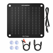 10w Solar Trickle Charger 12v Battery Charger Maintainer For Car Boat Motor Rv
