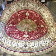 Yilong 9and039x9and039 Circle Hand Knotted Silk Carpets Classic Pattern Round Rugs W131c