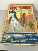 Vintage 1968 The Lone Ranger Electric Drawing Set Tested Working W/ Guide Sheets