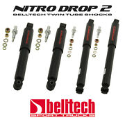 73-87 Chevy/gmc C10 Nitro Drop 2 Front/rear Shocks For 2-5f And 4-7 Rear Drop