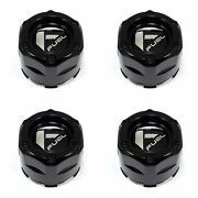 For Ebay 4x Fuel Off-road Wheels Gloss Black Wheel Center Hub Caps Snap-in For