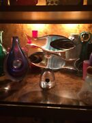 Vintage Rare Double Stacked Cenedese Glass Sommerso Signed Fish Sculpture