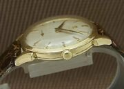 Omega 14k Gold Herfloater Small Second Automatic Vintage Watch 1950and039s