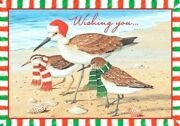 Sandpipers Birds On The Beach Boxed Christmas Greeting Cards Tropical 18 Ct New