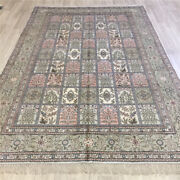 Yilong 6and039x9and039 Four Seasons Hand Knotted Carpets Green Silk Garden Rugs 085c