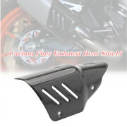 Motorcycle Exhaust Pipe Carbon Fiber Protector Cover Heat Shield Cover Universal