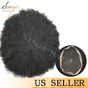 Full Lace Afro Mens Toupee African American Hairpieces Human Black Hair System