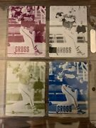 Wow Gabe Gross 1/1 Rainbow 2006 Upper Deck Brewers Collection Printing Plate