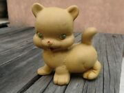 Vtg 1950and039s Mexican Rempel Rubber Cuddly Kitty Cat Squeaky Toy Squeeze Mexico