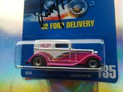 Autographedlarry Wood 135blue Card'32 Ford Deliveryhot Wheelscollectible