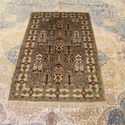 Yilong 3and039x5and039 Small Handmade Carpet Antique Home Decor Hand Knotted Silk Rug 232b