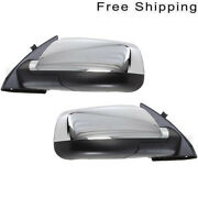 Lh And Rh Side Set Of 2 Chrome Manual Folding Power Heated Mirror Fits Equinox