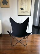 Classic Indoor/outdoor Butterfly Chair With Black Cover