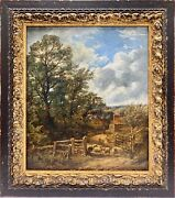 Original Painting William S Rose 1873 England Framed Oil On Canvas 14 By 12