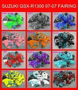 Plain Color Gsxr1300 Fairing With Tank Seat Fit Suzuki Gsx-r1300 01 97-07 V1 A1