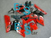 Red Decals Injection Fairing Plastic Kit Fit Kawasaki Zx-6r 03-04 022 A1